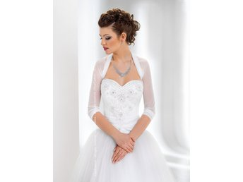 NEW Women Bridal Ivory/White Tulle Bolero Shrug Wedding Jacket Shawl