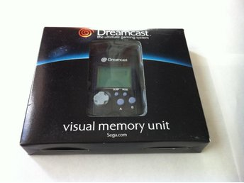 Dreamcast: Visual Memory Unit (VMU) Sega Original Svart Ny!