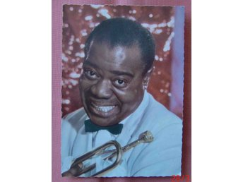 Jazz Louis Armstrong vykort obeg ca 1960