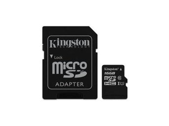 Kingston 16GB microSD Canvas Select, Class 10 + SD adapter