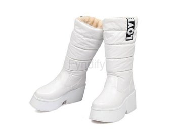 Dam Boots Mid Calf Half Boots For Women Shoes White 36