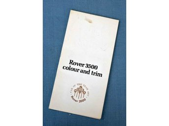 Rover 3500 Car Coulor and Trim  Guide 1977