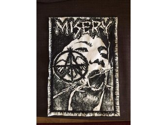 Misery (tyg backpatch screentryck) crustpunk