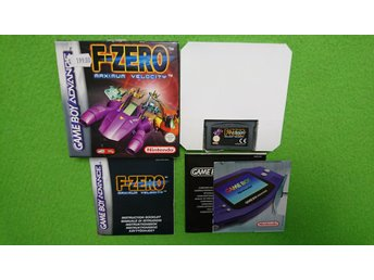 F-zero Maximum Velocity KOMPLETT SVENSK UTGÅVA Gameboy Advance Nintendo GBA