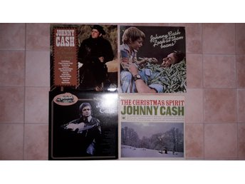 JOHNNY CASH - LP 4st - CHRISTMAS SPIRIT I forgot to remember LOOK AT THEM.. UK