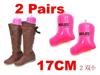 NY! 2 Pair PinkBoots Shoes Stand Holder Support 17CM