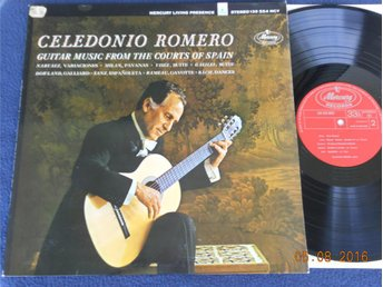 CELEDONIO ROMERO - Guitar Music from the Courts of Spain, LP Mercury Holland 60s