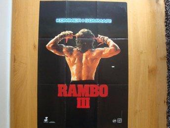 RAMBO III Advance 70x100 1988 Sylvester Stallone