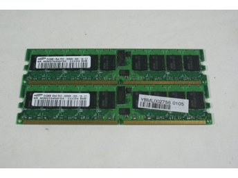 2st  DDR2 PC2-3200R 512MB (= 1GB Totalt)