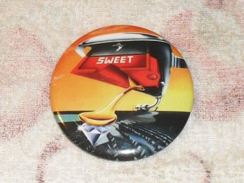 SWEET - Off The Record (STOR Badge / Pin / Knapp) 70-tal, Glam Rock, Slade, Kiss