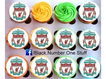 Liverpool tårtoblater - Cupcake / Muffin toppers