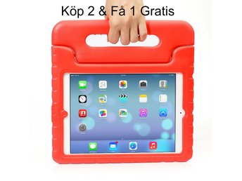 iPad Air 2/iPad 6  - Kids Shockproof Stand Case Cover/Kids Friendly Case - Röd