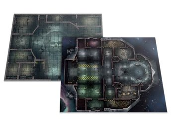 Warhammer 40K Kill Team: Rogue Trader Dubbelsidig Gaming Board / Battle Board