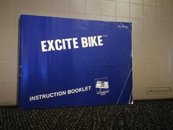 Excite Bike manual till NES - SCN
