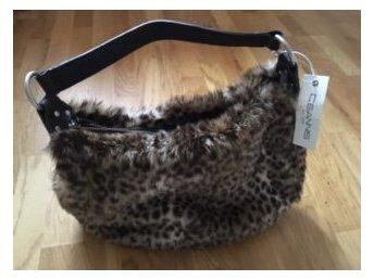 CEANNIS VÄSKA Leopardmönster fusk päls handväska