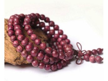 Buddhistiskt Böne halsband/armband 8mm kulor av Purple Heart