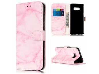 iPhone 5/5s/SE Plånboksfodral Marmor / Marble Texture Wallet case - Rosa Marmor