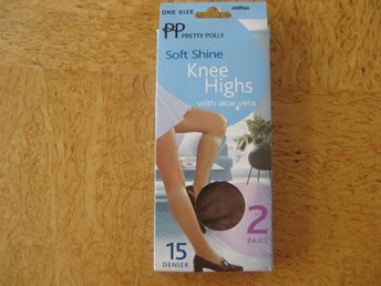 FYND Pretty Polly Soft Shine 2-pack Knästrumpor one size färg Chiffon 15 denier