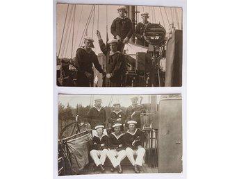 302fdd45b19b Fotografier Sjömän besättningsmän ombord ca 1917, HMS Munin sommar vykort