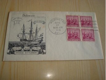 New Sweden Kalmar Nyckel Fort Christina Delaware Peter Minuit 1638-1938 USA FDC