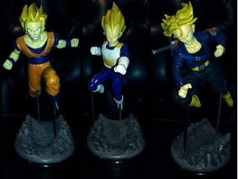 Goku · Vegeta · Trunks | Anime figurer, Manga, DBZ, Dragon Ball, Akira, Retro!!