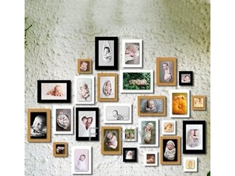 10st Paper Photo DIY Wall Picture Hanging Frame Svart Strlk 4 inch