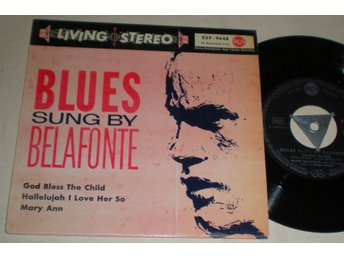 Harry Belafonte EP/PS Blues Sung By 1958? VG++