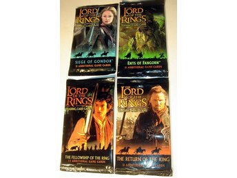 PAKET 4 st olika LORD OF THE RINGS  TRADING CARD NYA OÖPPN