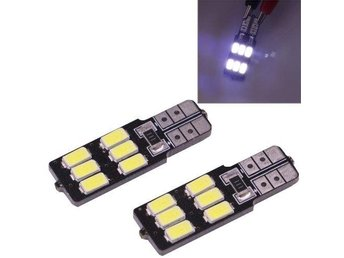 LED diodlampa T10/W5W 2,5W 6 LED 100 LM 5050 SMD CANBUS Vit färg - 2Pack