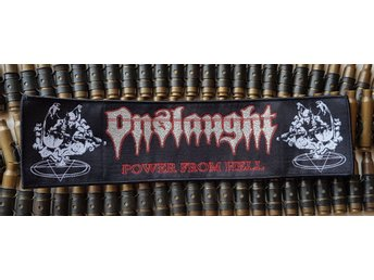 ONSLAUGHT - Power from hell patch /possessed/sodom/kreator/destruction/exciter/