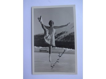 Sonja Henie - Three time Olympic Champion 1928-1936 - Figure skating - Autograph