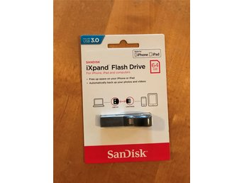 Sandisk iXpand flash drive 64 GB usb 3.0  Nytt Iphone Ipad ! Nypris 749 kr