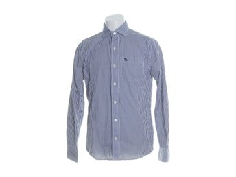 Abercrombie & Fitch, Buttondown-skjorta, Strl: M, Muscle fit, Blå/Vit