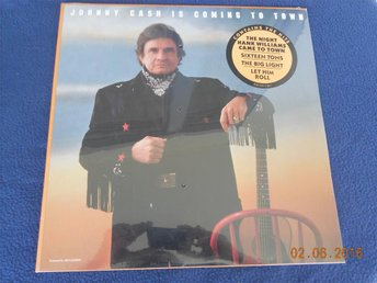 JOHNNY CASH - Is Coming To Town, Fortfarande förseglad LP! 1987 USA