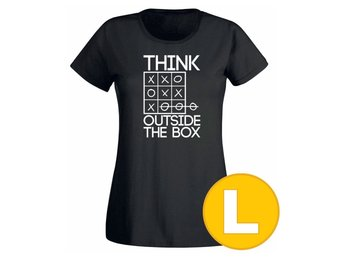 T-shirt Think Outside The Box Svart Dam tshirt L