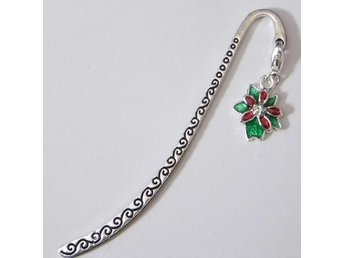 Jul blomma bokmärke / Christmas flower bookmark