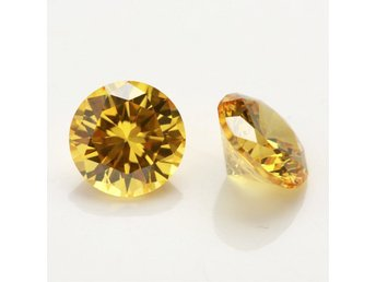"""DIAMANT""!!!!  Diamond Golden Yellow 6.15ct AAA 10mm"