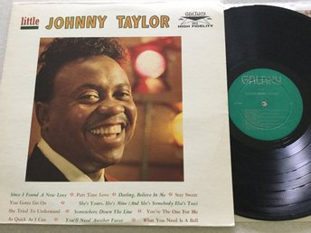 Lp Little Johnny Taylor-mega rare US 1:a press deep groove mono på Galaxy