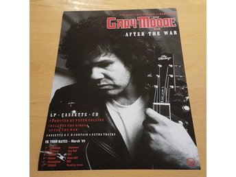 THIN LIZZY GARY MOORE AFTER THE WAR 1989 POSTER