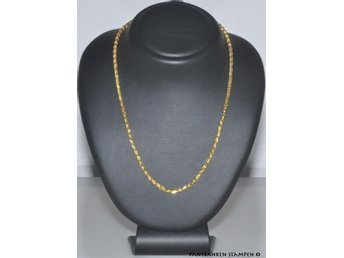 1 fint Collier 19k 37,6 gr L 53 cm B 3 mm, V9540