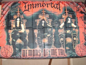 Immortal demons of metal tygposter tygflagga black metal hårdrock