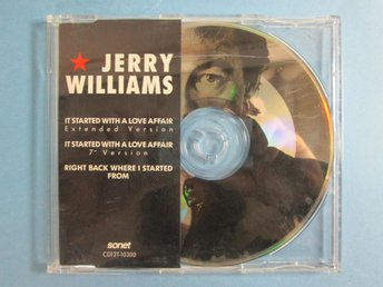 JERRY WILLIAMS - IT STARTED WITH A LOVE AFFAIR CD-singel '89
