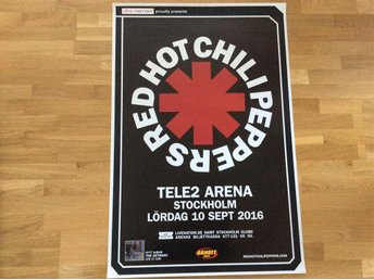 Red hot chilli peppers turneaffisch 2016 - Gävle - Red hot chilli peppers turneaffisch 2016 - Gävle