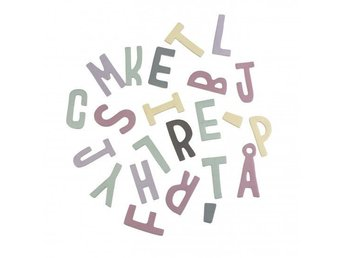 Sebra - Magnetic letters, mixed, girl (8010201)