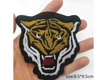 Tiger Broderat tygmärke att stryka på | Iron-on patch