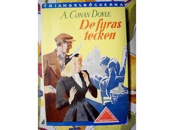 DE FYRAS TECKEN Arthur Conan Doyle 1948 - älmeboda - DE FYRAS TECKENav Arthur Conan DoyleLindqvists förlag 1948, triangelböckerna.Häftad i gott skick, mindre slitageSE BILDER FÖR MER INFORMATION!VI ANVÄNDER TRADERAS AUTOMATISKA VINNARMAIL!FRAKTFRITT! (Inom Sverige, free shipping only in Swe - älmeboda