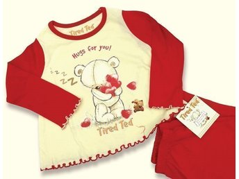 Jättesöt Tatty Teddy/ Mirandanalle/Me to you pyjamas! Storlek 2-3 år