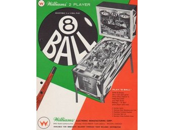 Original flyer Williams EIGHT BALL