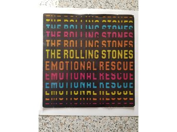 The Rolling Stones singel Emotional Rescue/Down in The Hole fr 1980