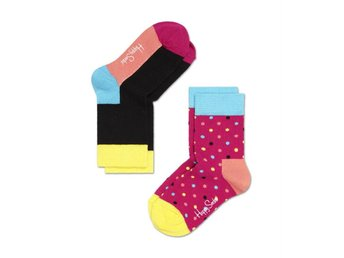 Happy Socks 2-pack barnstrumpor Dots (7-9 år)
